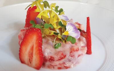 Ceviche de daurade aux fraises Gariguette par Nicolas Gobron