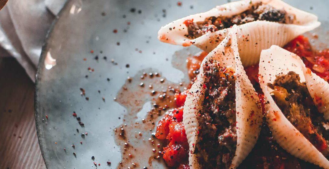 Conchiglioni au piment béarnais de la Maison Malnou