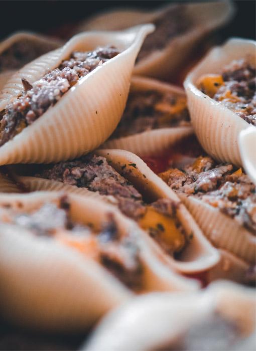 Pâtes farcies et viande hachée