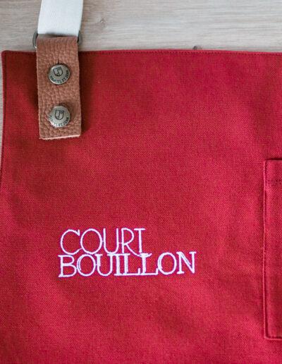 Court bouillon broderie logo